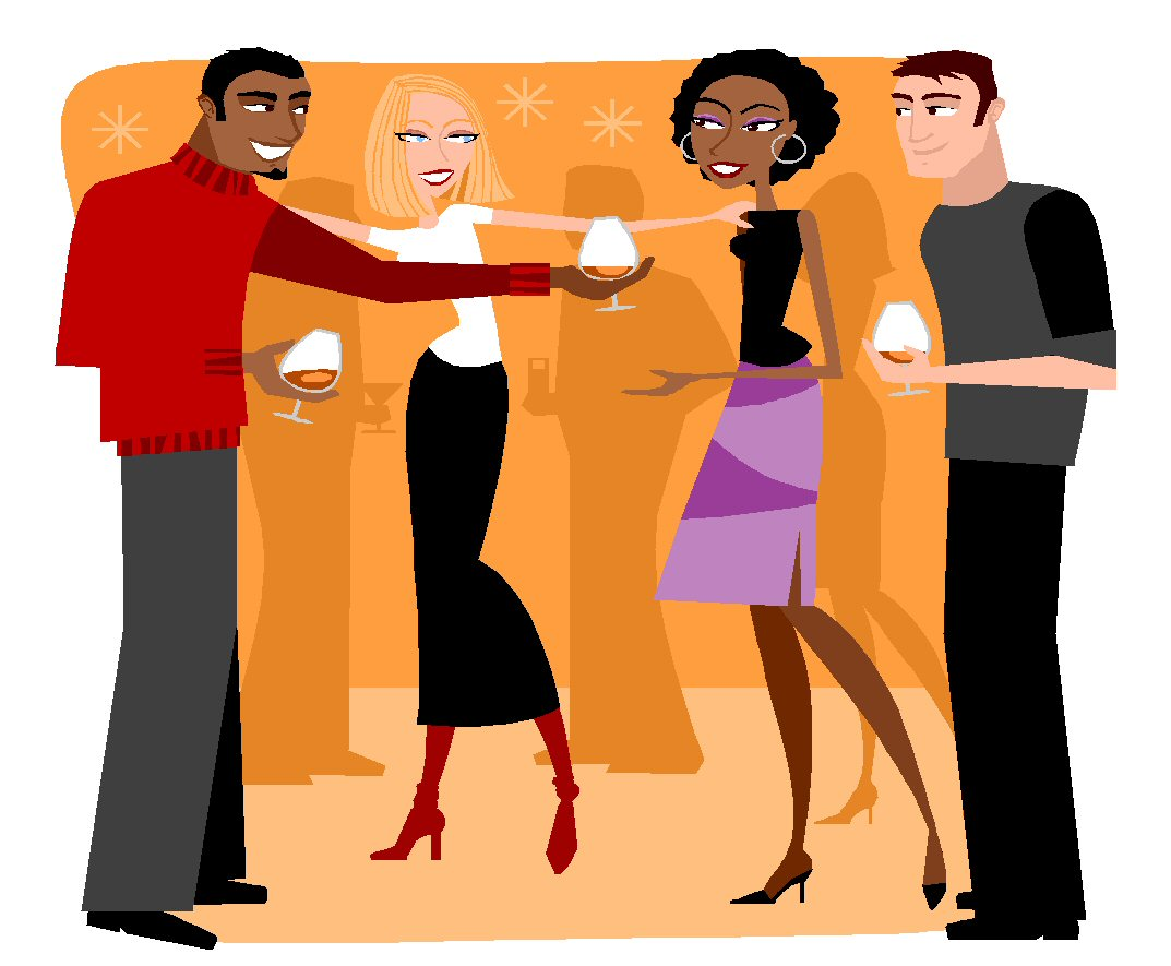 Socializing With Friends Clipart.