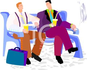 People Socializing Clipart.