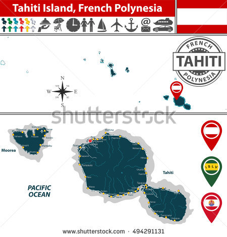French Polynesia Stock Vectors, Images & Vector Art.
