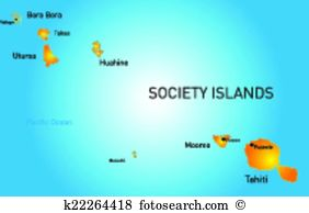 Society islands Clipart Vector Graphics. 31 society islands EPS.