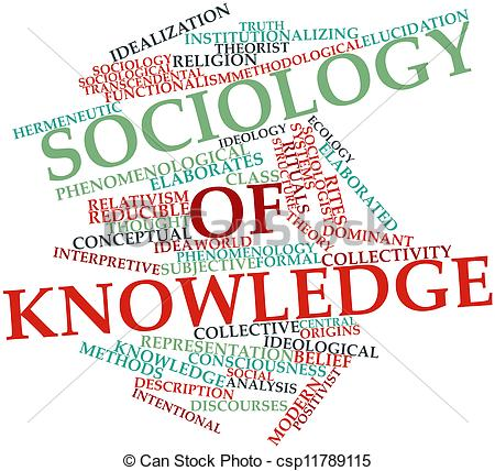 Clipart of Sociology of knowledge.