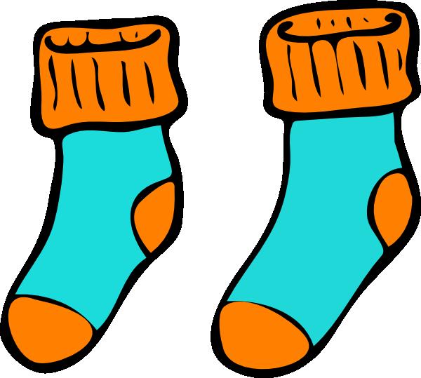 Turquoise Orange Sock Clip Art at Clker.com.