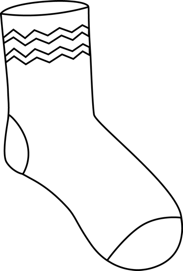 Black and White Funky Sock.