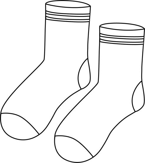 Socks clipart black and white 3 » Clipart Station.