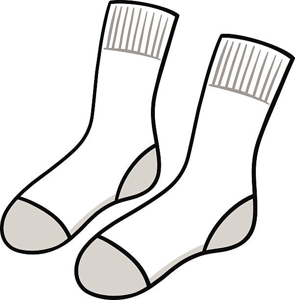 Image result for socks clipart black and white pictures.