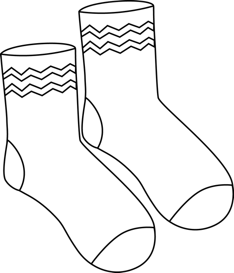 Sock Clipart Outline Clipground