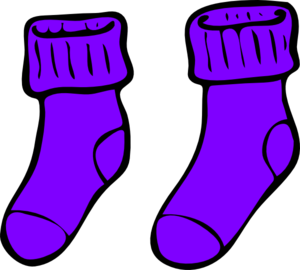Purple Sock Clip Art at Clker.com.