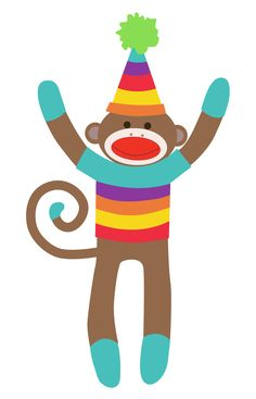 sock monkey svg.