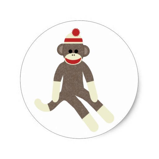 Sock monkey clipart free.