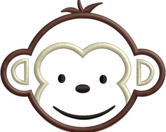 Sock Monkey Face Clip Art.