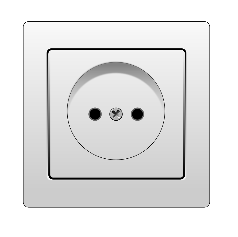 Wall socket clipart.