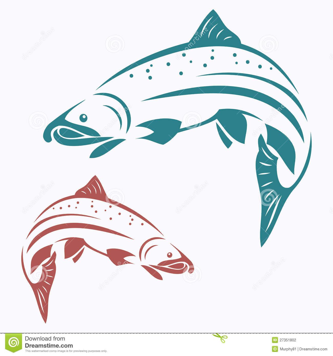 Salmon clip art.