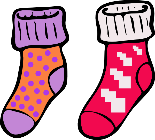 Silly Socks Clipart.