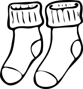 Neat Socks Clip Art.