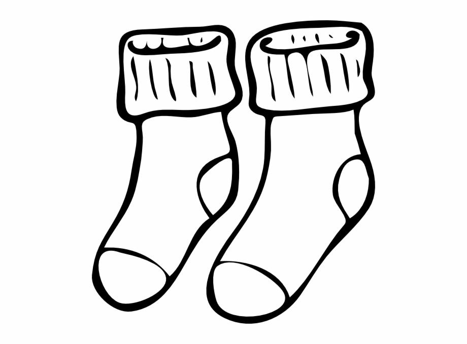 White Clipart Socks Socks Clipart Black And White.