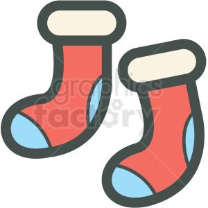 socks vector icon . Royalty.