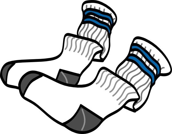 Athletic Crew Socks clip art Free vector in Open office.