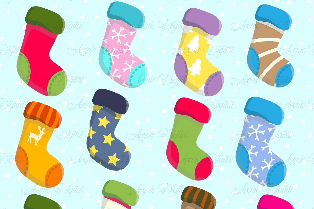 Christmas Stocking Clipart.