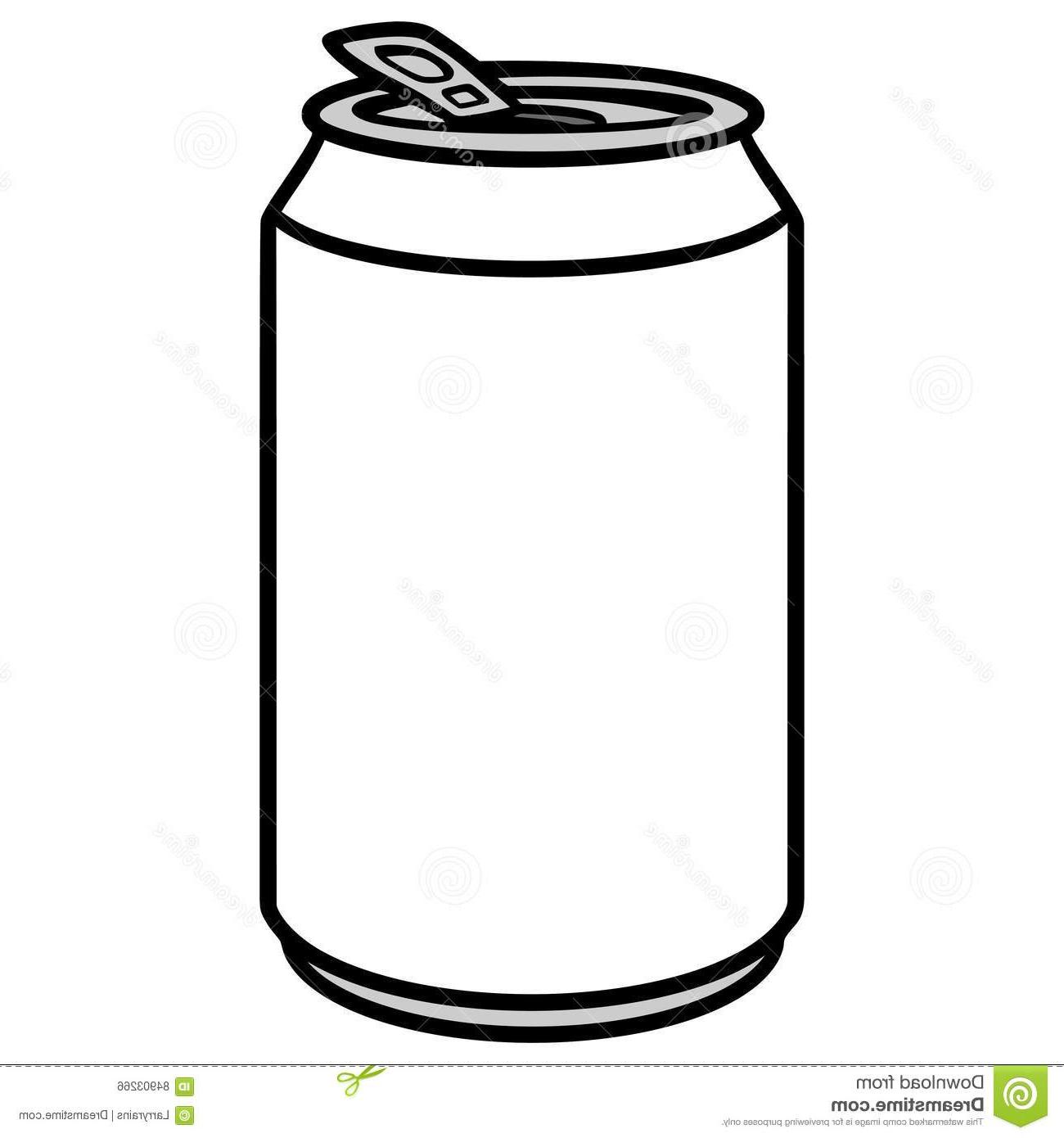 Best Free Soda Can Clip Art Black And White Cdr ~ Vector.