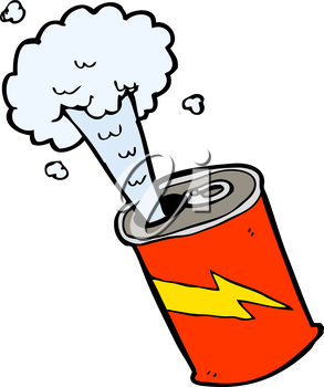 Royalty Free Clipart Image of an Exploding Soda Can #730171.