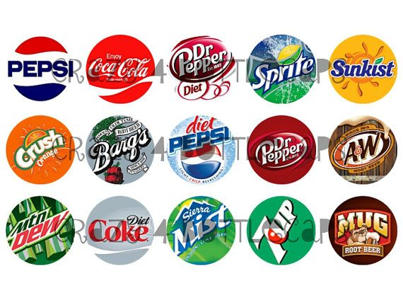INSTANT DOWNLOAD Soda pop logo 15 1 inch by Crazy4Bottlecaps.