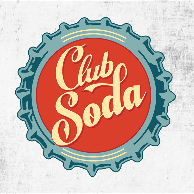 Soda Shop logo for the name Club Soda!.