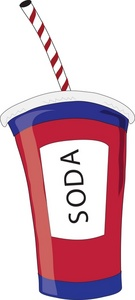 Free clipart animated sodas in cup.