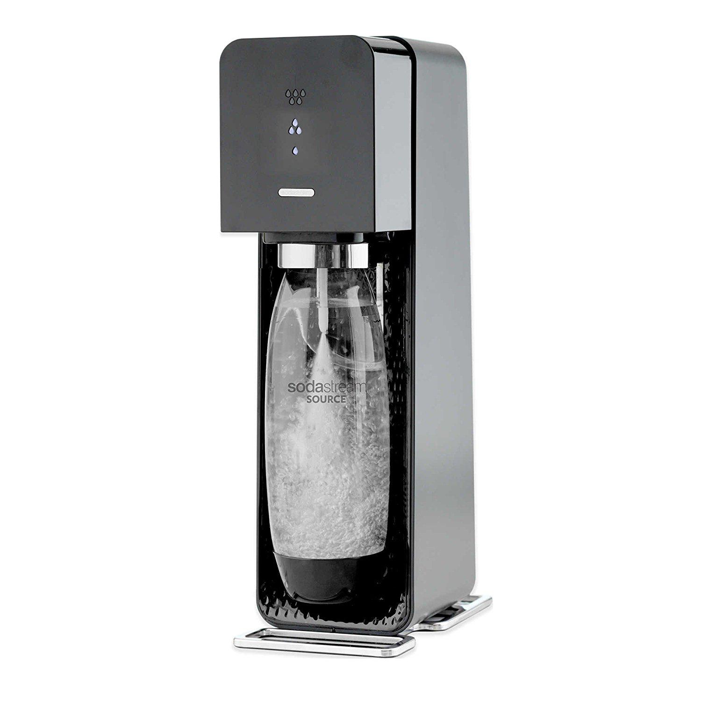 SodaStream Source Sparkling Water Maker Starter Kit, Black.