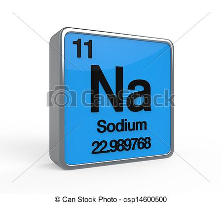 Stock Illustration of Sodium Element Periodic Table isolated on.