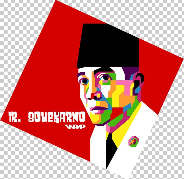 Sukarno Art Proclamation Of Indonesian Independence WPAP PNG.