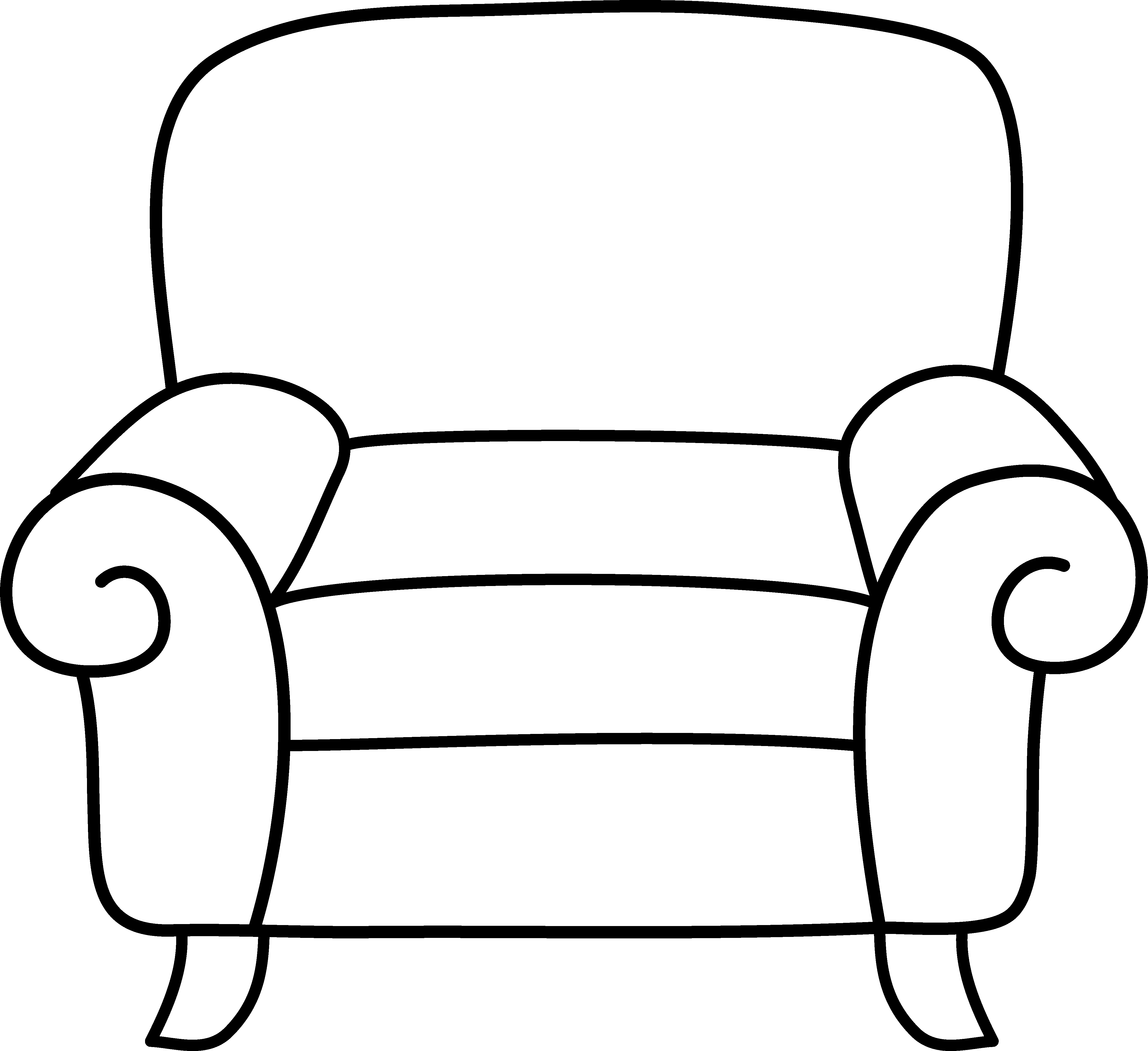 Free Sofa Clipart Black And White, Download Free Clip Art.