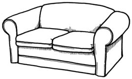 Sofa clipart black and white 1 » Clipart Station.