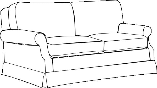 Clip art black and white sofa clipart kid.