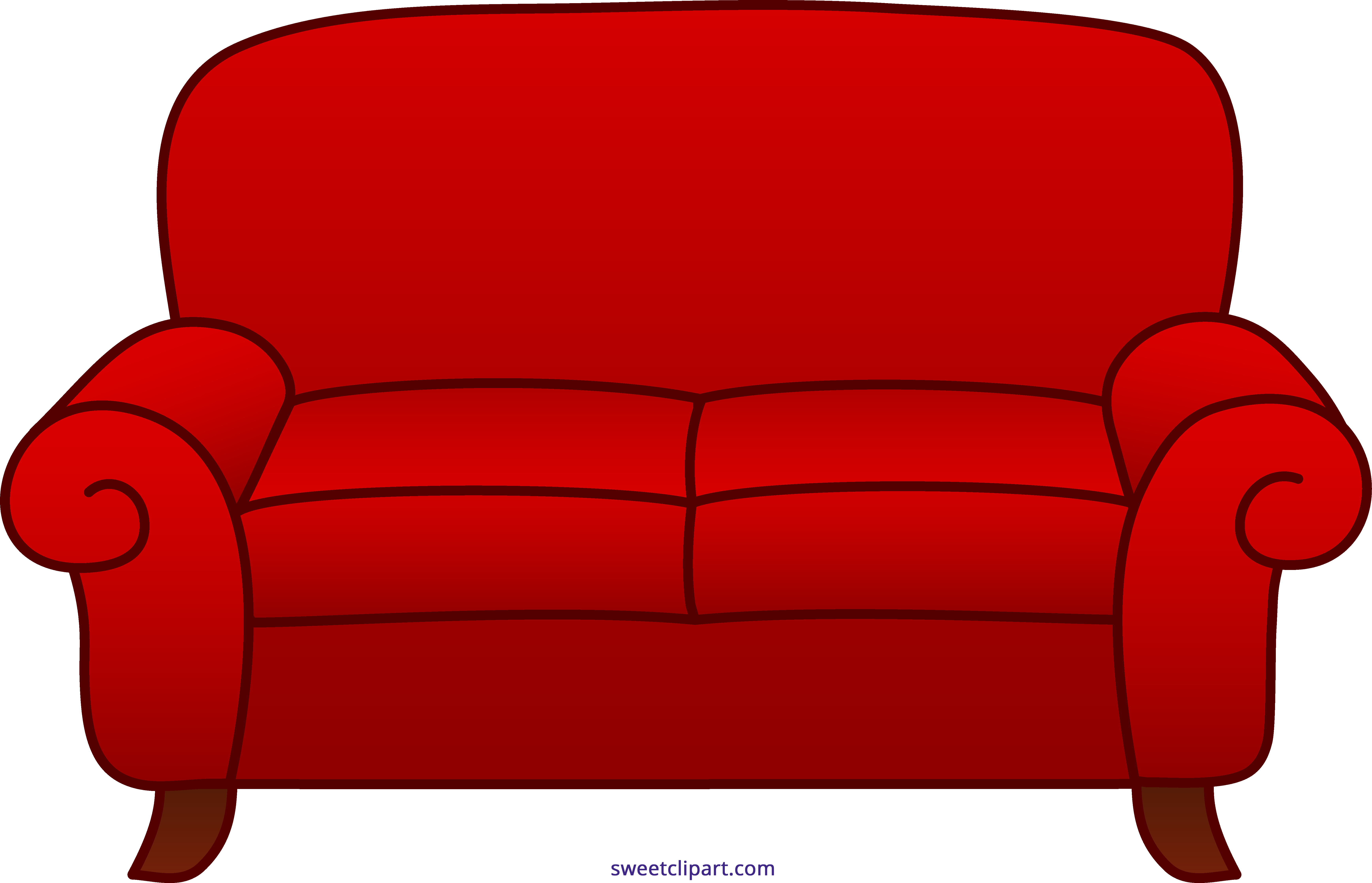 Sofa Red Clipart.