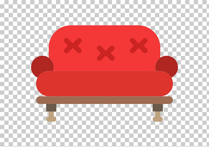 Couch Scalable Graphics Chair Icon, A red sofa PNG clipart.