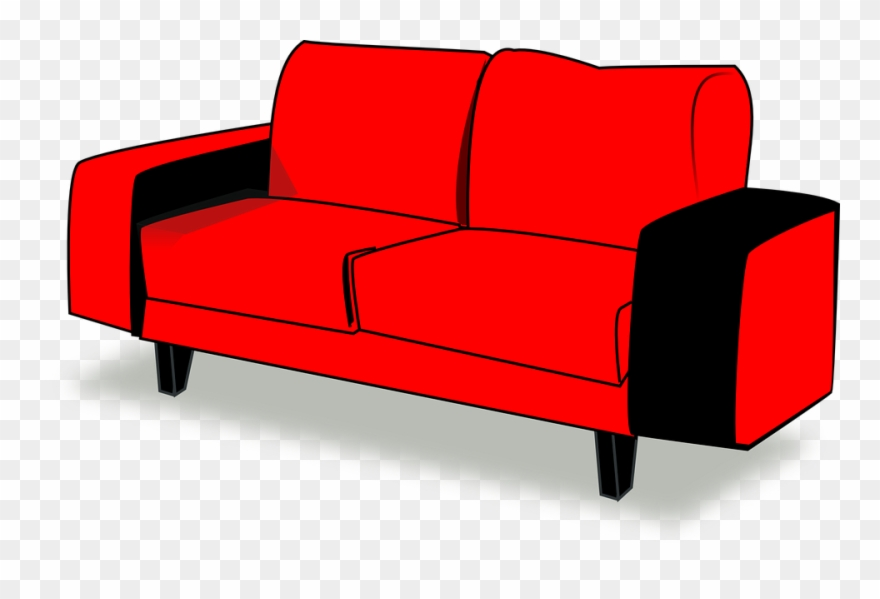 Couch Red Sofa Couch Clipart Cartton.