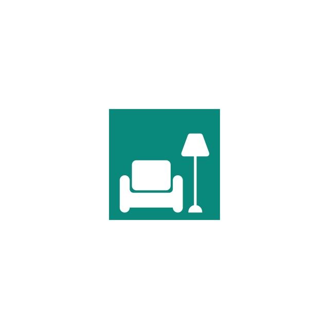 Sofa Chair Logo Furniture Design Vector Illustration Icon.