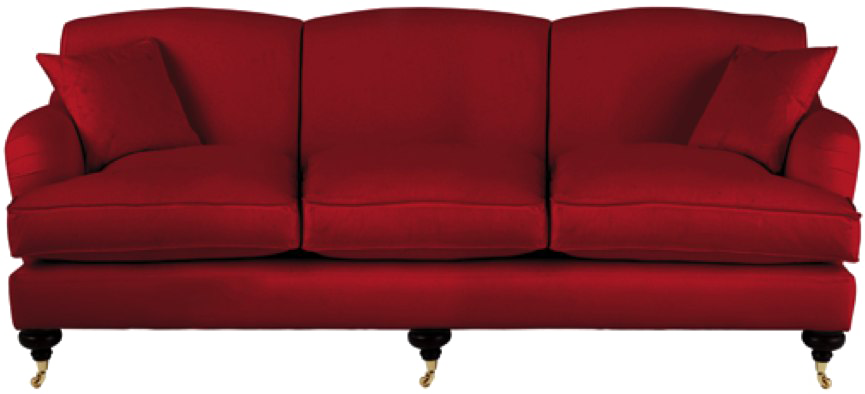 Velvet Sofa PNG Transparent Image.