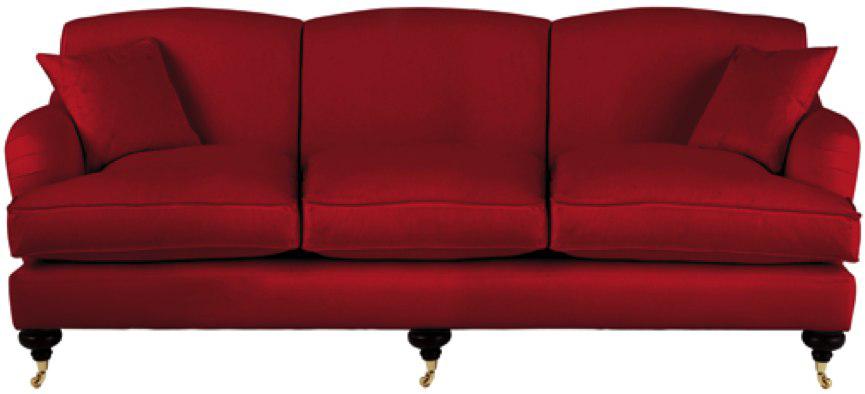 Velvet Sofa PNG Transparent Image.