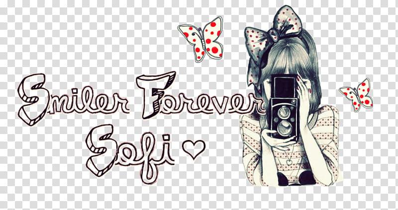 Sello Smiler Forever Sofi, female character holding camera.