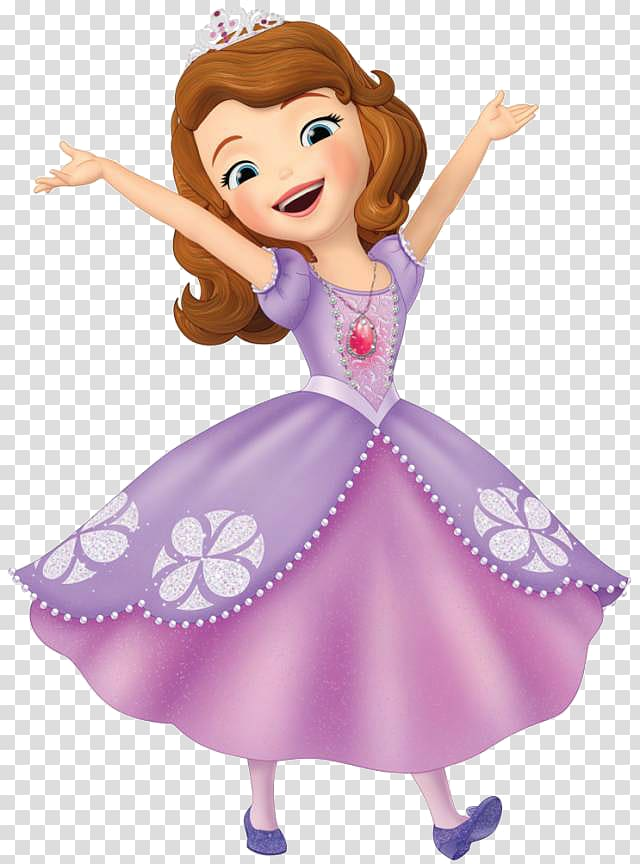Sofia The First transparent background PNG cliparts free.
