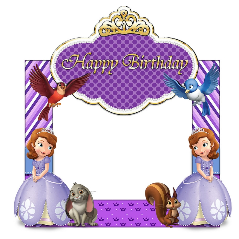 Sofia The First Birthday Frame Large Size.