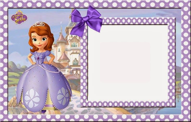 Sofia the First Free Printable Invitations, Cards or Photo.