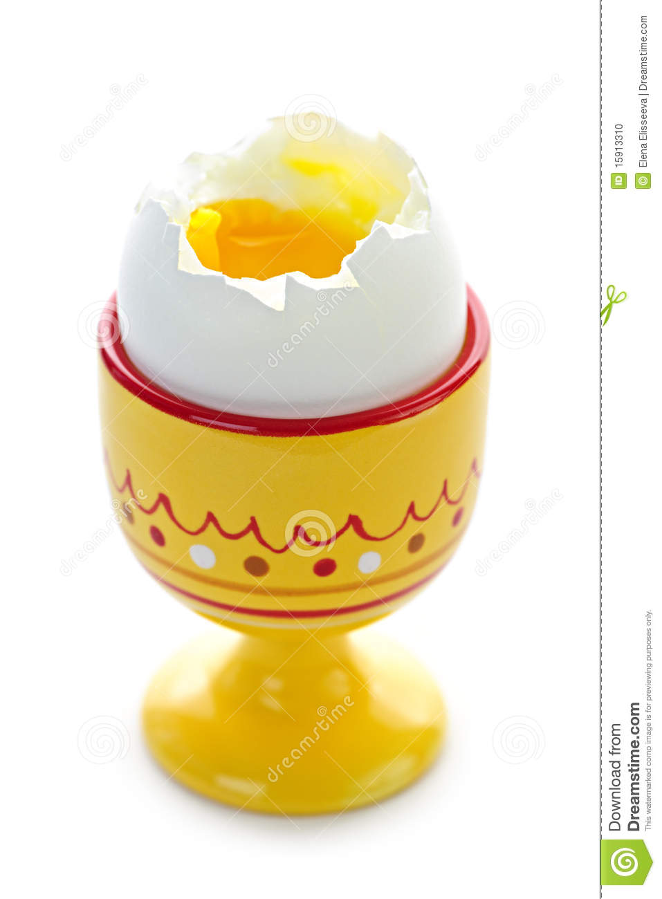 Soft Boiled Egg In Cup Stock Photo.