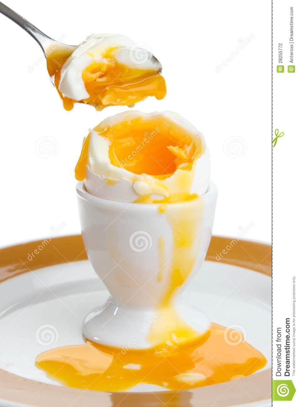 Soft Boiled Egg Stock Photography.