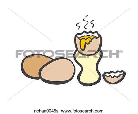Stock Illustration of Soft Boiled Eggs richaa0045s.