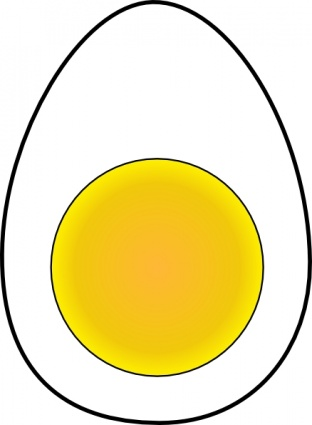 Soft Boiled Egg clip art Free Vector.