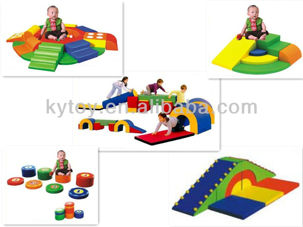 Wave Shape Rainbow Bridge Soft Indoor Games Kids Play.