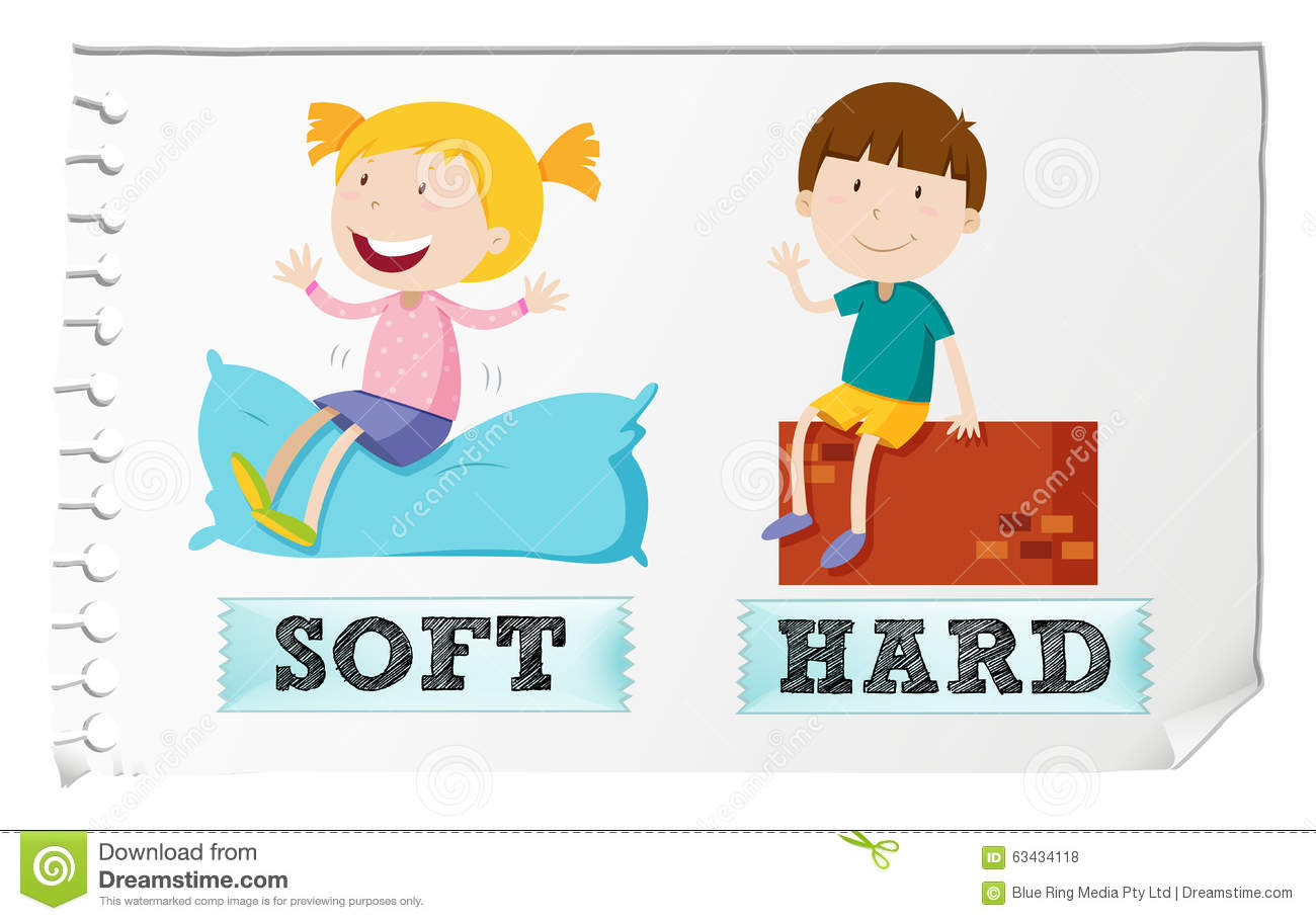 Hard and soft clipart.