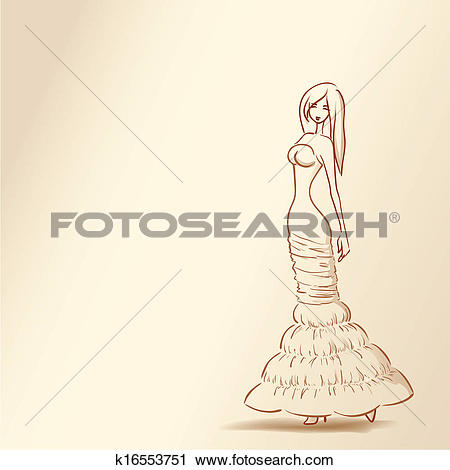 Clipart of Series silhouettes of women. Soft nude pastel colors.